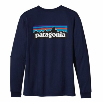 Patagonia Mens Long-Sleeved P-6 Logo T-Shirt Classic Navy (Autumn 2013)