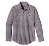 Patagonia Mens Long-Sleeved Pima Cotton Shirt Harding: Classic Navy (Autumn 2013)