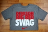 Denison Nike Big Red Swag Tee Grey