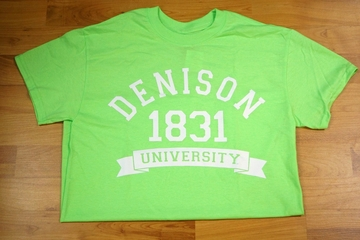 Denison Retro Neon Tee Electric Green