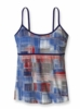 Patagonia Womens Hotline Top Painted Plaid: Railroad Blue (Spring 2013)