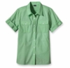 Patagonia Womens Gardener Shirt Chambray: Aloe Green  (Past Season)