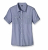 Patagonia Womens Gardener Shirt Chambray: Railroad Blue (Spring 2013)
