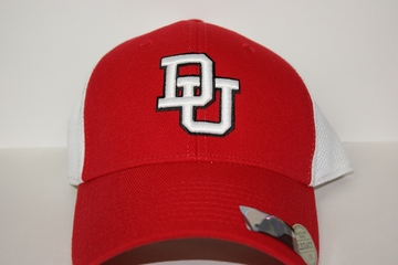 Denison Athletic Serge Strecth Fit Hat Scarlet/ White