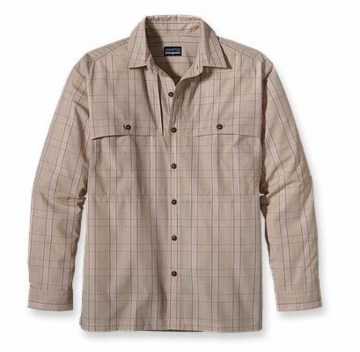 Patagonia Mens Long-Sleeved Island Hopper Shirt Gordon: Retro Khaki (Autumn 2013)