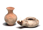 Oil Lamp & Jug Set  - Holy Land Archaeology