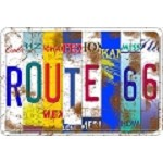 Route 66 States Parking Sign