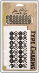 Tim Holtz Idea-Ology Typewriter Keys 16/Pkg (S/O)