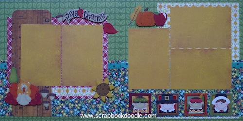 Premade Scrapbook Pages - Give Thanks