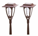 Moonrays Solar Carriage Lamp Stakes