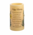 Heartnotes Flameless Birthday  Candle