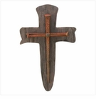 Rustic Nail Cross Plaque