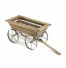 Oxcart Wooden Planter