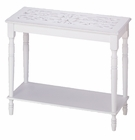 White Wood Console Table