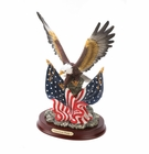 Patriotic Eagle Statue Sculpture