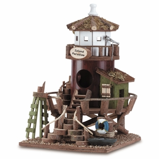 Wood Bird House - Island Paradise