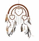 Dreamcatcher Heart Windchime