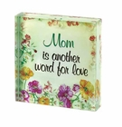 Floral Love Mom Cube