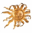 Smiling Sun Candle Wall Sconce