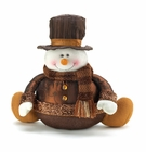 Golden Sparkle Snowman Shelf Sitter