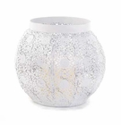 White Lace Design Candleholder