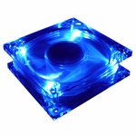 80mm Blue UV Reactive Fan w/ Quad UV LEDs