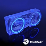 Bitspower Dual D5 Mod Top (Acrylic Version) - UV Blue