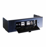 Lian Li BZ-U02 Multi-Media I/O Panel - 5.25in Black
