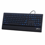 Logisys Streamline Illuminated Blue LED USB Keyboard