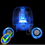 Logisys Blue LED Clear Acrylic Computer Speakers - Open Box