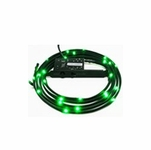 NZXT Premium Sleeved LED Kit (1 meter) - Green