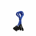 Bitfenix Alchemy Multisleeve 4-Pin Molex to Triple 3-Pin Fan Adapter 12V - 20cm - Blue