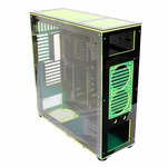 FrozenQ Liquid Full Tower X1 Full Tower Computer Case - Black/Green