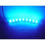 Flexible Waterproof 9 LED Light - Blue