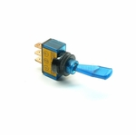 Illuminated Duckbill Toggle Switch (12v)- Blue