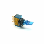 Illuminated Mini Duckbill Toggle Switch (12v)- Blue