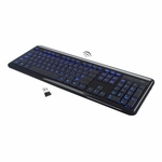Modtek 2.4 GHz Wireless Blue Backlit Keyboard