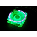 Green UV Reactive 80mm Fan w/ UV Cold Cathode