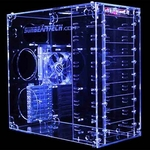 Sunbeam 9 Bay Acrylic Case - UV Blue