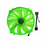 Apevia 200mm 4pin LED Case Fan - UV Green