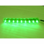Flexible Waterproof 9 LED Light - Green