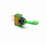 Illuminated Duckbill Toggle Switch (12v)- Green