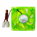 Apevia 120mm 4pin UV Green LED Case Fan