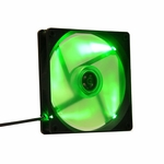 Apevia 140mm Black Frame LED Case Fan - UV Green