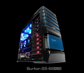 Sentey - GS-6500B Burton Full Tower Case - Blue