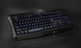 Modtek Tri-Color Backlit Illuminated Gaming-Style Keyboard
