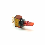 Illuminated Mini Duckbill Toggle Switch (12v)- Red
