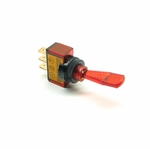 Illuminated Duckbill Toggle Switch (12v)- Red