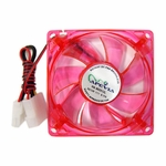 Apevia 120mm 4pin UV Red LED Case Fan