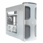 Silverstone Kublai Series Case w/ Window KL03 - Silver